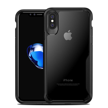 Elivebuy New Business Type Transparent Full Protection Scratch-resistant Phone Case Soft Slica Cell Case For iphone X(China)