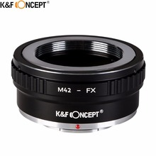 K&F CONCEPT M42-FX II DSLR Camera Lens Mount Adapter For M42 Screw Mount Lens to for Fujifilm FX Lens X-series Microless camera