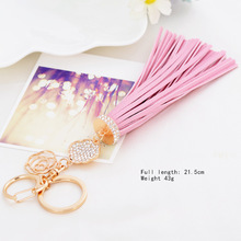 2016 Hot sale Simple Candy Color Tassel Pendant Car Keychain Keyring Key Chain Ring Holder Bag Accessories Gift for Girl Women(China)