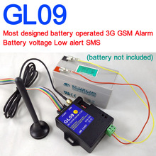 Battery operated GL09-B 3G GSM Alarm system SMS Alert Wireless alarm Home and industrial burglar security alarm(China)