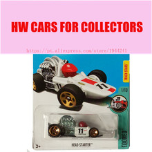 2017M Hot Wheels head starter Metal Diecast Cars Collection Kids Toys Vehicle For Children Juguetes(China)