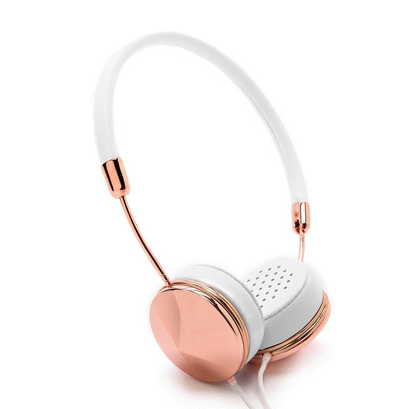 Fashion Newest Rose Gold Wired Stereo Headband Headphones with Mic Fone De Ouvido On-Ear Headset For iPhone Samsung Smartphones<br>