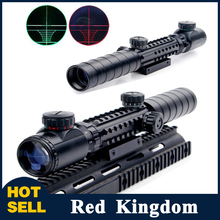 Buy 3 1 Combo 3-9X32EG Riflescope Red/Green Dot Holographic Reflex Sight Long Range Red Dot Laser Rifle Airsoft Hunting for $34.99 in AliExpress store