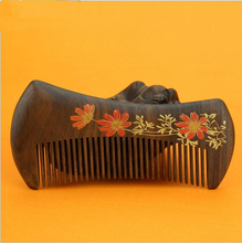 high quality 1pcs 13cm chacate preto handmade comb Wood Hair Combs makeup Head Massager Antistatic Wooden brush best gift(China)