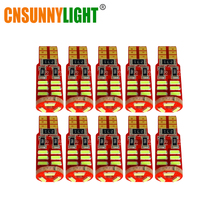 CNSUNNYLIGHT 10pcs High Power T10 W5W 4014 15SMD SMD LED Car Auto Wedge Parking Bulbs Lamp DC 12V Dome Clearance Trunk Lights(China)
