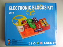 Elenco Electronic Snap Circuits building blocks kit ,educational learning Assembed toys set for kids 58 projects