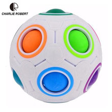 Spherical Magic Cube Toys Novelty Rainbow Football Puzzle Learning & Educational Toys For Children Kids Adults