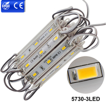 20pcs/lot Outdoor Module Lighting 5050 SMD 5730 LEDs DC12V 3LEDs Cold/Warm White RGB Waterproof Light LED Bulbs Advertising Lamp(China)