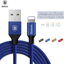 Baseus Usb Cable For iPhone 5 6 7 Plus iPad Charger Cable For lightning to Usb Charger Data Cable 2A Fast Charging Cable iOS 10