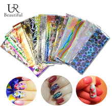50Sheets Mixed Nail Art Transfer Foil 50 Designs Sticker for Nail Tip Decor Beauty Adhesive Nail Decal Craft Accessories BENJ207