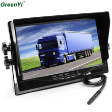Iron Bracket 2 RCA Video Input DC12~24V HD 800X480 Digital Screen 7 Inch TFT LCD Truck Bus Parking Monitor Fit Camper Trailer