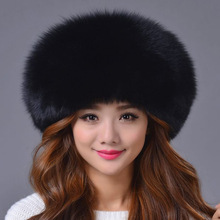 2016 Winter Fox Fur Hat Thick Warm Unisex Mongolia Cap Storm Tide Cap Female Genuine Fox Fur Hat Fashion Headgear Beanies