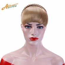 Buy Allaosify Short Braid Blunt Bangs Natural Tidy Hairpieces Heat Resistant Synthetic Women Hair Available Natural Fake Hair for $5.70 in AliExpress store