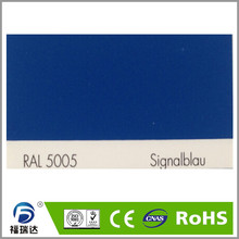 thermosetting RAL5005 signal blue epoxy polyester spray electrostatic powder coating