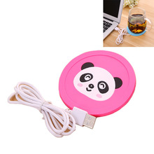 Creative USB silicone coffee Pad safety cartoon electrical insulation Mat device heating Coaster for the office tea keeping warm(China)