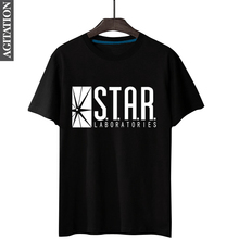 Hot Sale The Flash STAR LAB Letter Print Men's T-Shirt Fashion Cotton Fitness T-Shirt Summer Short Sleeve O-Neck Slim Fit Tees(China)