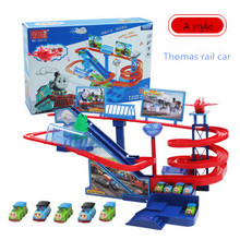 Thomas and friends Plastic Track Car Music & Light Thomas Rail Cars Puzzle Track Car Electric Train Brinquedos toys for children(China)