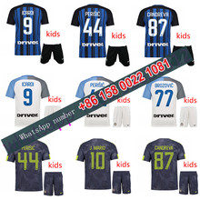 2017 2018 Inter Milan kids jersey 17 18 Home Away football camisetas Thai AAA shirt survetement football Soccer jersey
