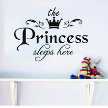 The Princess Crown Pattern Wall Stickers For Kids Room Wall Decor Vinyl Decal Wallpaper Home Decoration Bedroom Decor(China)