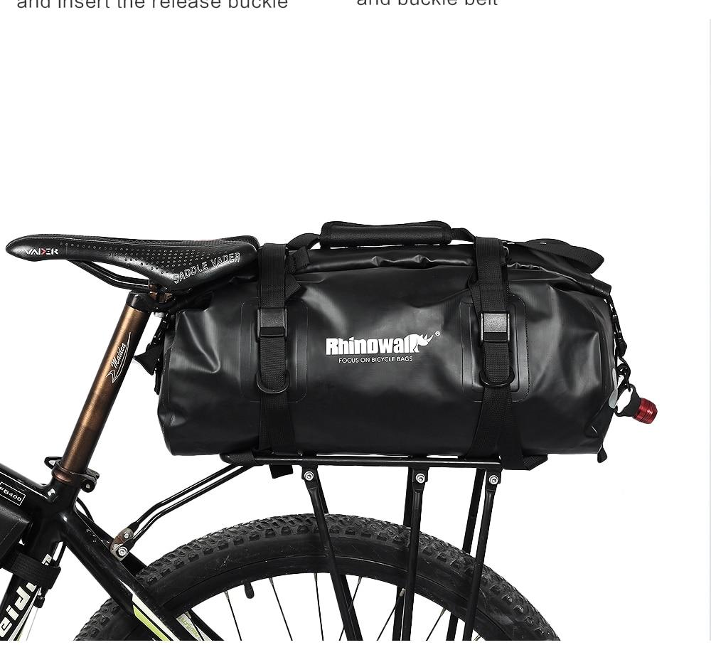 RockBros Waterproof Pannier Bag Bicycle Small Rear Carrier Black 18L 2pcs Bags