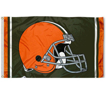Cleveland Browns Team Logo Large banner Indoor Outdoor High Quality Football Flag 3X5 Custom flag