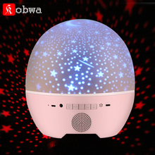 Portable Wireless Bluetooth Speaker Easter egg sharp Star Sky Rotation Projector light With Remote Controller usb Mini speaker(China)