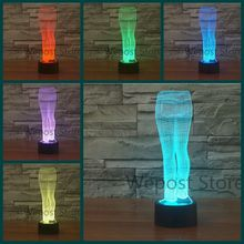 3D Pants LED Night light Blue Jeans Shape Illusion Bedroom Table Lamp 7colors changing Clothing Store Decor light Gift