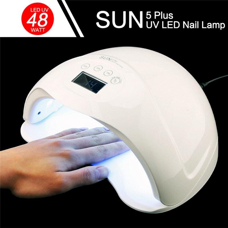 SUN5Plus Nail Lamp UV LED Nail Polish Dryer Light Drying Gel Manicure Mach Nail Art Equipment  drop shipping  D# dropshipping102<br>