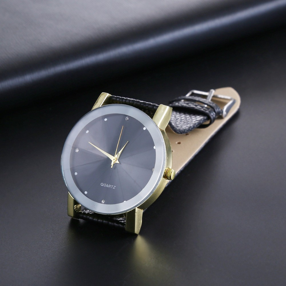 New luxury Men Casual Diamond watch Elegant Ladies Quartz Wrist Watch women dress Wristwatch leather female simple clock hours<br><br>Aliexpress