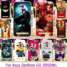Hard Plastic Soft TPU Phone Case For ASUS ZenFone Go ZB500KL ZB500KG 5.0 inch Painted Case Cover Shell Housing