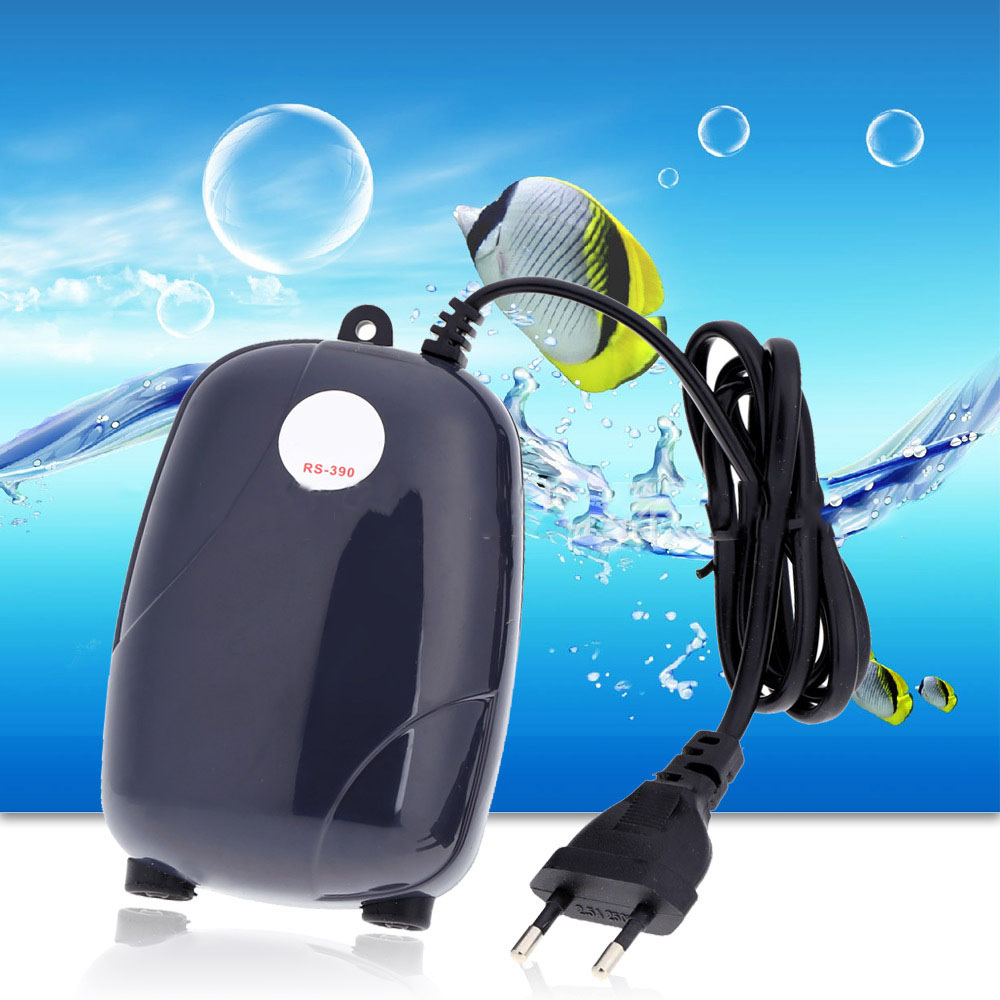 3W Super Silent Adjustable Aquarium Air Pump 220V Fish Tank Oxygen Air Accessories Fish Aquatic Single Double Outlet Supplies  (4)