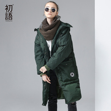 Toyouth 2017 Winter Long Down Jacket Brand New Hooded 80% Duck Down Costs Female Thicken Warm Hoodies Parkas Down Coats