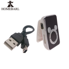 HOMEBARL Metal Classical / Plastic Mickey, Clip MP3 Player With Micro SD TF Card Slot + Charger USB Cable New Hot Music Players(China)