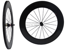 WS-CW08 :  Carbon Glossy Cycling Road Bike Clincher Wheelset 88mm 700C Bicycle Wheel Rim Basalt Brake Side