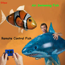 Hot sale RC Air Swimming fish toys drone RC Shark Clown fish balloons Nemo inflatable with helium fish plane kids toys RC Toys(China)