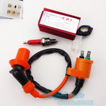 Racing Ignition Coil GY6+ A7TC Spark Plug + AC CDI 5 pin For 50cc - 125cc 140cc 150cc 160cc XR50 CRF50 Pit Dirt Bike
