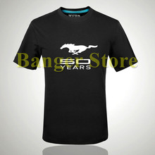 Ford Mustang car logo cotton Brand t shirt for women and men clothing cotton short-sleeved t shirt