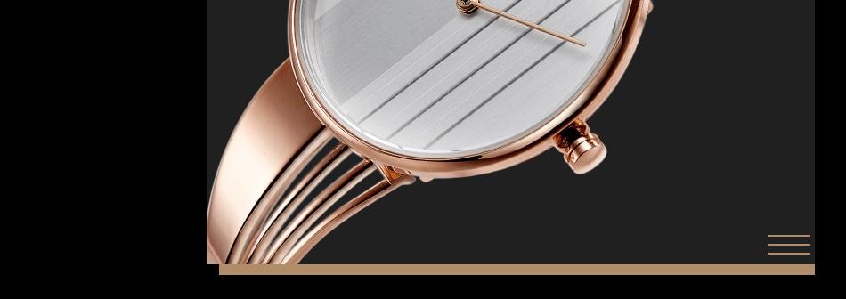 ساعة اليد سوار كوارتز  مطلية بالذهب 17
