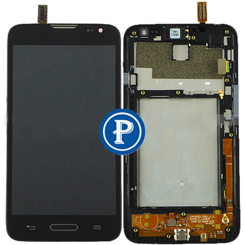 For LG Optimus L70 MS323 D320 D321 D325 Complete LCD with Digitizer Touchpad Assembly and Frame in black -OEM<br><br>Aliexpress