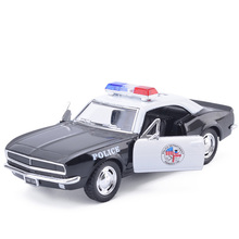 High Simulation KINSMART 1/37 Camaro Z28 Police 388 Alloy Car Model Brinquedos With Pull Back Car Toys For Baby Free Shipping(China)