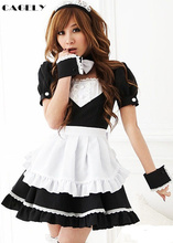 Maid Dress with Apron Anime Skivvy Bonne Cosplay Japanese Animation Related Outfits Sexy Stage Performing Costume Fancy Party
