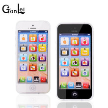 GonLeI Baby YPhone Mobile Phone Educational Toy For Children Playmobil Gift Drop Shipping White Black