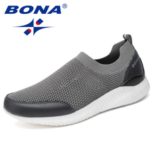 BONA New Popular Style Men Running Shoes Slip-On Mesh Upper Sneakers Outdoor Walking Jogging Shoes Comfortable Athletic Shoes