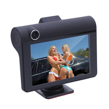 "4"" inch Dual Lens IPS 1080P Car DVR Rearview Camera Dash Cam Auto Dashcam Camcorder Digital Video Recorder Car-styling"