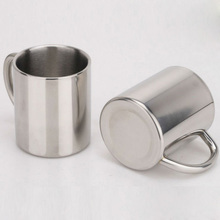 double-layer Brief Stainless Steel Espresso Coffee mug Solid Color Coffee cup