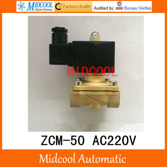 ZCM straight pull diaphragm gas solenoid valve ZCM-50 AC220V port 2 normally closed<br><br>Aliexpress