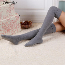 Sunfree 2016 New Hot Sale Women Girl Winter Over Knee Leg Warmer Soft Knit Crochet Sock Brand New And High Quality Nov 8