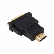 HDMI Male To DVI DVI-I 24+5 Female Adapter Connector Conveter for Graphic Card Video Player New