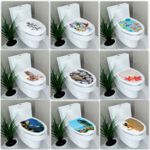 Multi-style Bathroom Stickers On The Toilet Muurstickers Home Decor Waterproof Painting Wall Decal Pegatinas De Pared(China)