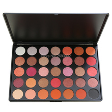 Professional New 35 Colors Eyeshadow Palette Shimmer Matte Beauty Make up Pallete Set Nature Smoky Eye shadow Makeup Kit F(China)